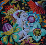 AN163 Colors of Praise Floral/White Monkey 7 1/2x7 1/2 13M