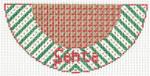 "Barbara Bergsten Designs K01A* Santa 2.5"" X 5.5"" #18 mesh"