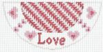 "Barbara Bergsten Designs K06A* Love Kiss 2.5"" X 5.5"" #18 mesh"
