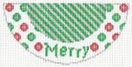 "Barbara Bergsten Designs K02A* Merry Kiss 2.5"" X 5.5"" #18 mesh"