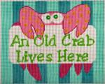 "Barbara Bergsten Designs S18 Old Crab 9"" x 7"" 14 mesh"