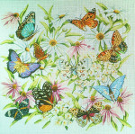 FF186 Butter?ies-Floral and Fruit Designs 16x16 18M Colors of Praise