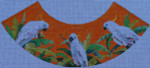 LA538 White Parrots 3x6x5 18 Mesh Colors of Praise Lampshade
