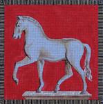 MC16 White Horse 7 1/2x7 1/2 18 Mesh Colors of Praise