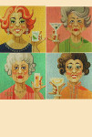 "LL120 Labors Of Love Ladies Who Lunch Coasters 18 Mesh 4"" x 4"""