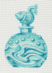LL150N Labors Of Love Aqua Fish Dauber Perfume Bottle 18 Mesh 4x5.75