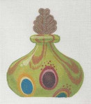 LL150P Labors Of Love Green Venetian Glass Perfume Bottle 18 Mesh 5x6