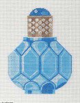 LL150L Labors Of Love Sapphire and Pearl Perfume Bottle 18 Mesh 4.25x5.5, 1.25x1.5
