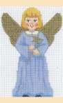 LL230A Labors Of Love Angel with Star 18 Mesh 3x4.25