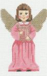 LL230F Labors Of Love Angel with Harp 18 Mesh 3x4.25