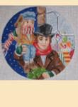 "LL235B Labors Of Love Tiny Tim and Bob Cratchit 18 Mesh 6"" x 6"""