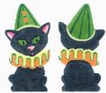 LL227 Labors Of Love Halloween Cat 18 Mesh 3x5.5
