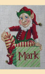 "LL237 Labors Of Love Elf on Package 18 Mesh 4.5"" X 6.5"""