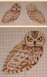 "LL300C Labors Of Love Owl Clip on Bird 18 Mesh 4"" x 4.25"""
