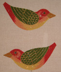 LL300D Labors Of Love Christmas Clip on Bird 18 Mesh 5.5x3 each (2)