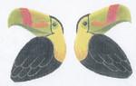 LL300N Labors Of Love Toucan Clip on Bird 18 Mesh 3.5x4.25 each (2)