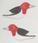 """LL306G Labors Of Love Red Headed Wood Pecker Clip on 18 Mesh  6"""" x 3"""""""