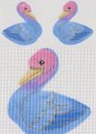 "LL300Q Labors Of Love Blue Bird of Paradise Clip on 18 Mesh 3.75""x 4"""
