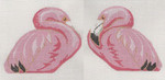 LL306D Labors Of Love Pink Flamingo Clip-on 18 Mesh 4.5 x 3.75