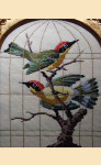 "LL311A Labors Of Love Song Birds in Golden Cage 18 Mesh  8"" x 10"""