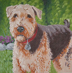 LL410 Labors Of Love Airedale Terrier 18 Mesh