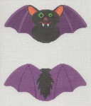 "LL505 Labors Of Love Halloween Bat Clip on 18 Mesh 6"" x 3"" Includes clip"