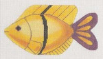 """LL510H Labors Of Love Clip On Fish """" Yellow w/ Purple Tail """" 18 Mesh 5.25x3 Includes clip"""