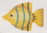 "LL510D Labors Of Love Clip-On Fish "" Yellow w/ Blue Stripe "" 18 Mesh 5x3.5 Includes clip"