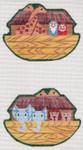 LL521C Labors Of Love Victorian Noah's Ark Clip-on 18 Mesh 4.75x3.5 Includes Clip