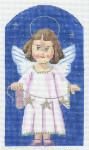 "LL490I Labors Of Love A Kindergarten Nativity Angel 18 Mesh 3.75"" x 6.5"""