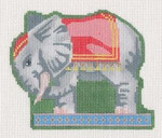 "LL521H Labors Of Love Victorian Elephant Pull Toy Clip-­?on 18 Mesh 4.25"" x 3.75"" Includes Clip"