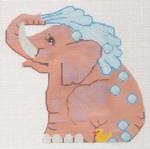 LL522B Labors Of Love Bathing Elephant 18 Mesh 6x6.25