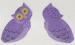 LL503 Labors Of Love Halloween Owl Clip on 18 Mesh  3.75x4.5 each (2) Includes clip and tail feathers