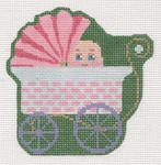 "LL521D Labors Of Love Victorian Baby Buggy Clip-­on 18 Mesh 4"" x 4"" Includes Clip"