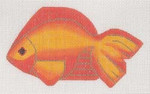"""LL510J Labors Of Love Clip-On Fish """" Gold Fish """" 18 Mesh 5.5 x 3.25 Includes clip"""