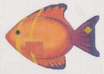 """LL510K Labors Of Love Clip-On Fish """" Orange and Blue """" 18 Mesh 5x3.5 Includes clip"""