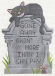"LL500 Labors Of Love Tombstone "" Gone Away "" 18 Mesh 4.25x5.75"