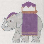 "LL522D Labors Of Love Indian Elephant 18 Mesh 6"" x 6"""
