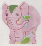 "LL522E Labors Of Love Pink Elephant 18 Mesh 5.5"" x 6"""