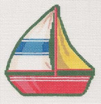LL521G Labors Of Love Victorian Sailboat Clip-­on 18 Mesh 3.75x3.75 Includes Clip
