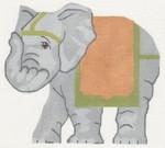 LL522A Labors Of Love Asian Elephant 18 Mesh 6.25 x 5.5