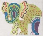 "LL522F Labors Of Love Paisley Elephant 18 Mesh 6.25"" x 5.5"""