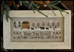 12-2965 Bear Tree Forest 193w x 81h by Little House Needleworks YT