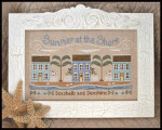 10-1801 Summer at the Shore 177w x 103h Country Cottage Needleworks  YT