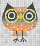 CZ-02 Danji Designs CHARLIE ZAPARTE Big Eye Owl 3 ½ x 4 18  Mesh