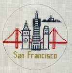 "CB-70 San Francisco Ornament 4"" circle 18 Mesh CHRISTINE SAUNDERS"