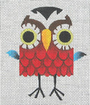 CZ-04 Danji Designs CHARLIE ZAPARTE Round Owl 3 ½ x 4 18 Mesh