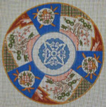"A-3 Danji Designs Asian Imari 14 ¼"" diameter 12 Mesh"