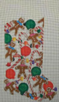 183 Danji Designs Gingerbread Candy Stocking 11 ½ x 21  13 Mesh