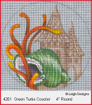 4261 Leigh Designs Green Turbo Shell 18 Count Canvas